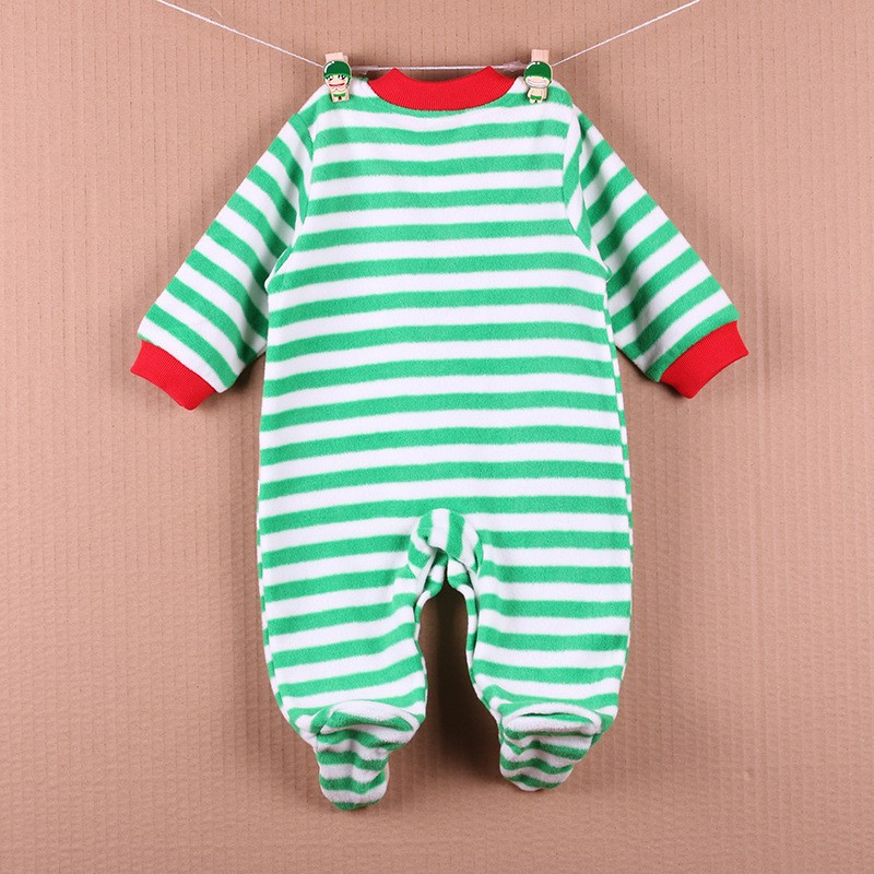 New Arrival Baby Footies Boys&Girls Jumpsuits Spring Autumn Clothes Warm Cotton Baby Footies Fleece Baby Clothing Free Shipping (5)