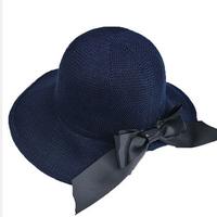 58901a0e099728 2019 Beach Hat Women Cotton Bucket Hats Foldable Big Wide Brim Casual Bucket  Hats Outdoor Fishing