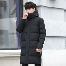 Long Section Men's Parkas Coats Patchwork Winter Men's Hooded Parkas Back Printing Windproof Keep Warm Men's Parkas Coats free shipping 2017 the new winter more men s long section hooded clothes leisure warm and windproof parkas winter wear coats