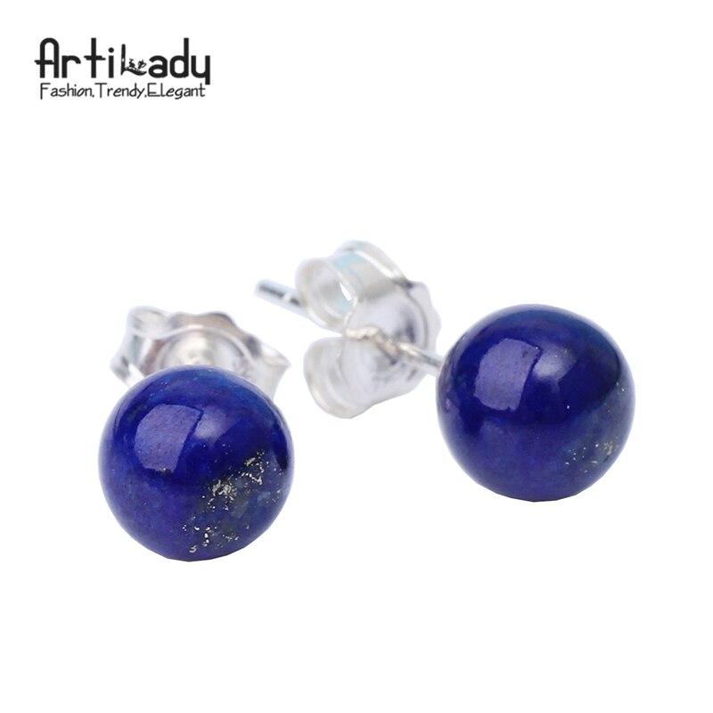 Artilady 925 sterling silver stud earringss