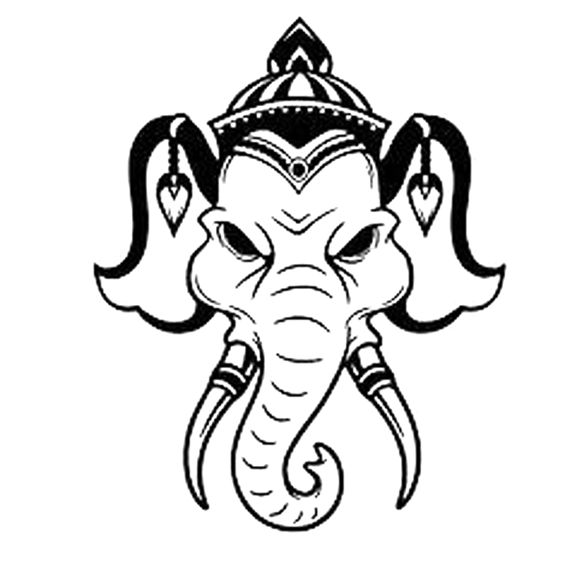 12 3cm 15 3cm Vinyl Decal Indian Elephant Animal Head Motorcycle