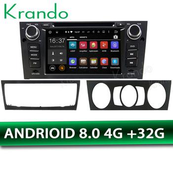 Krando Android 8.1 7 car radio player GPS for BMW E90 E91 E92 E93 2005-2012 DVD radio stereo navigtaion system bluetooth WIFI image