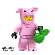 Single Building Blocks Pink Cartoon Movie The Girls Anime Figures Blossom Bubbles Buttercup Sonic Action toys for children(China)