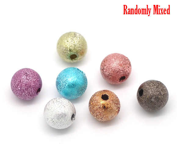 DoreenBeads At Random Acrylic Spacer Beads 8mm, sold per packet of 30