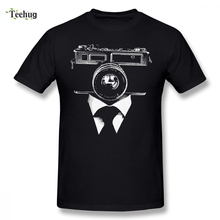 Mens Fashion For Male Camera Homme Tee Shirt Funny Summer O-neck Short-sleeved