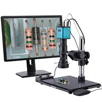 AmScope Industrial Inspection Zoom Monocular Microscope with Auto Focus 1080p HDMI Camera H800 96S AF1