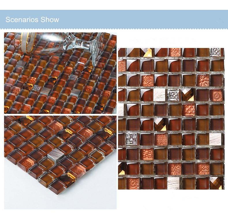 Reddish brown Glass mosaic,marble stone gray tiles,kitchen backsplash bathroom wall shower tub home wall decor ideas,LSMS15-241A