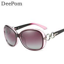 Deepom Women Sunglasses Brang Design Polarized Sun Glasses For Female Ladies Classic Vintage Oval Round Eyewear Shades Mirror