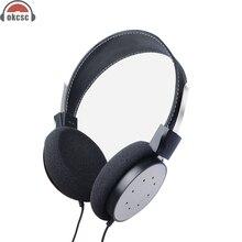 OKCSC M6 Over ear Semi Open Back Hout Hoofdtelefoon Actieve Ruisonderdrukkende Avondmaal Bass Wired Inklapbare Headset 3.5mm Vergulde
