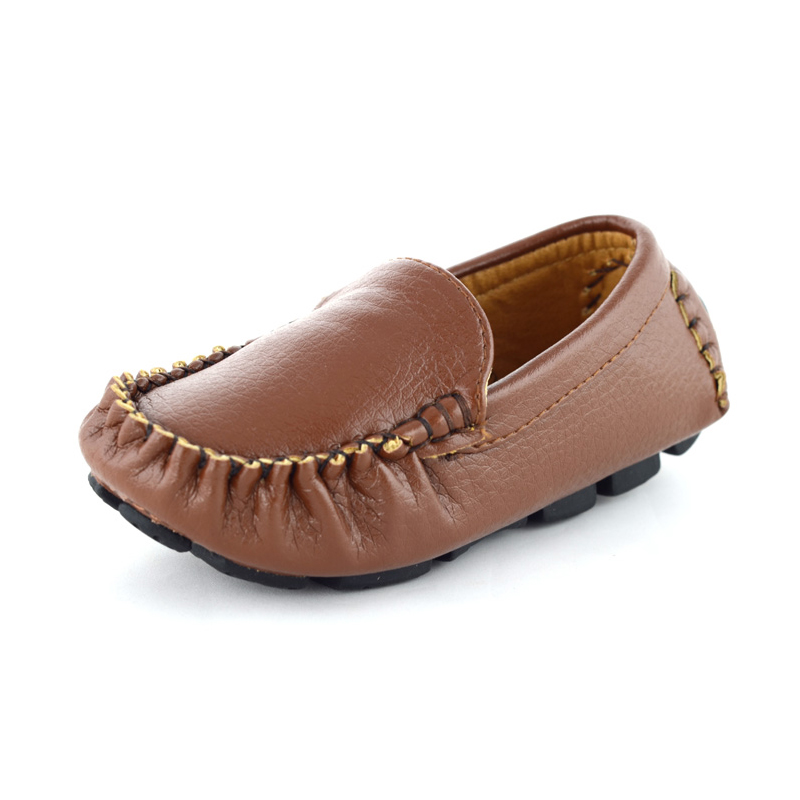 Kids Shoes Boys Shoes 2018 Spring Soft Sole Mocassins Children Leather Shoes Flat Slip On Casual Boys Sneakers Loafers