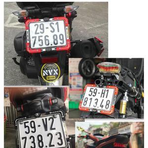 Image 2 - Evrensel alüminyum alaşım motosiklet plaka tutucu numarası braketi çerçeve elektrikli araç için 3 renk