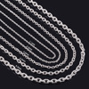 High Quality Stainless Steel Chain Necklace Silver Color Charm Pendant Necklace Match Rolo Chain Necklace Jewelry Christmas Gift