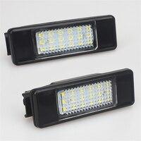 אורות לוחית רישוי LED רכב 12 V עבור פיג 'ו 307 308 407 207 3008 אביזרי 508 לסיטרואן C4 C5 C3 הלבן SMD מנורת LED