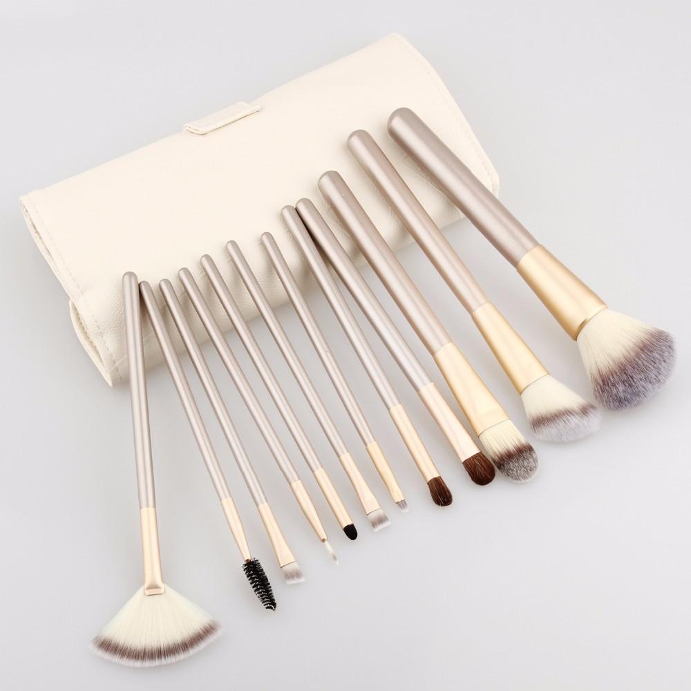 12 pcs pro makeup brushes