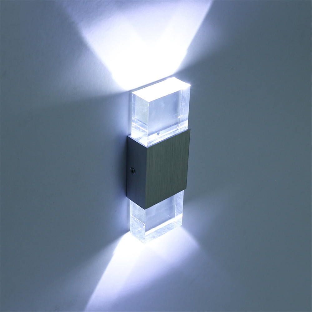 2pcs Modern 4w Led Wall Light Bathroom Light High Quality Aluminum Case Acrylic Crystal Wall Lamp Bedroom Living Room House Wall