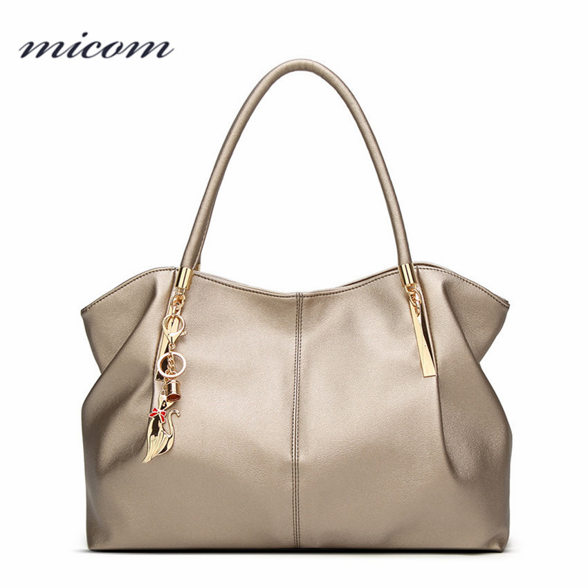 Micom Fashion Women Leather Bag Boho Hobo Shoulder Bag Boston Handbag Large Capacity Tote Bags for Women bolso mujer grande NEW