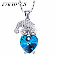 EYE TOUCH Crystals From Swarovski Fashion Pendants Women Necklaces Jewelry Purple Color Blue Color Australian Rhinestone
