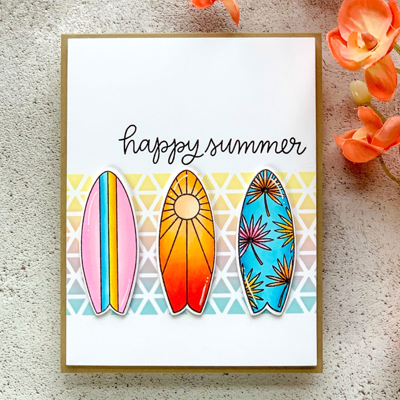 Summer surfboard stamp and Cutting Dies for DIY Scrapbooking Photo Album Decorative Embossing Paper Card Crafts Die Cut 2019 in Cutting Dies from Home Garden