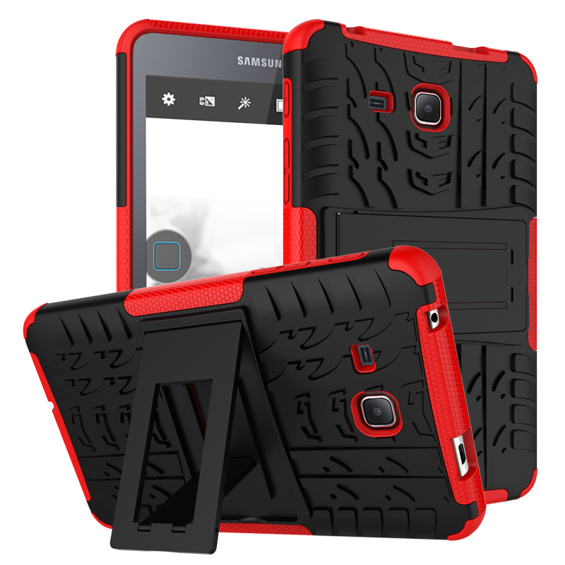 Heavy Duty Armor Hybrid TPU + Plastic Shockproof Hard Cover For Samsung Galaxy Tab A 8.0 T350 SM T355 T355C Stand Tablet Case tire style tough rugged dual layer hybrid hard kickstand duty armor case for samsung galaxy tab a 10 1 2016 t580 tablet cover