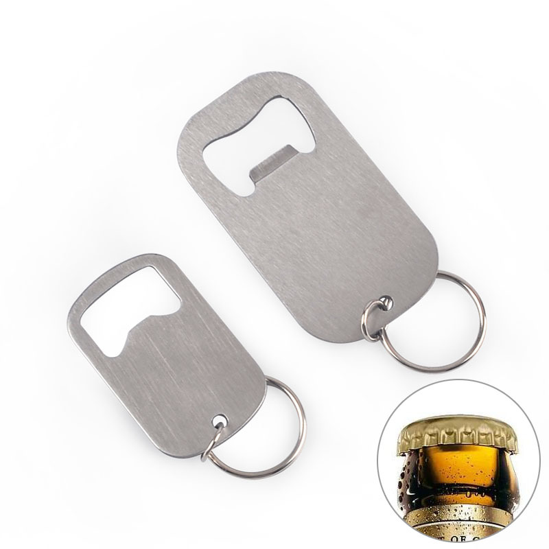 Stainless Steel Flat Speed Bottle Cap Opener Remover Bar Blade Home Hotel Professional Beer Bottle Opener Key Chains