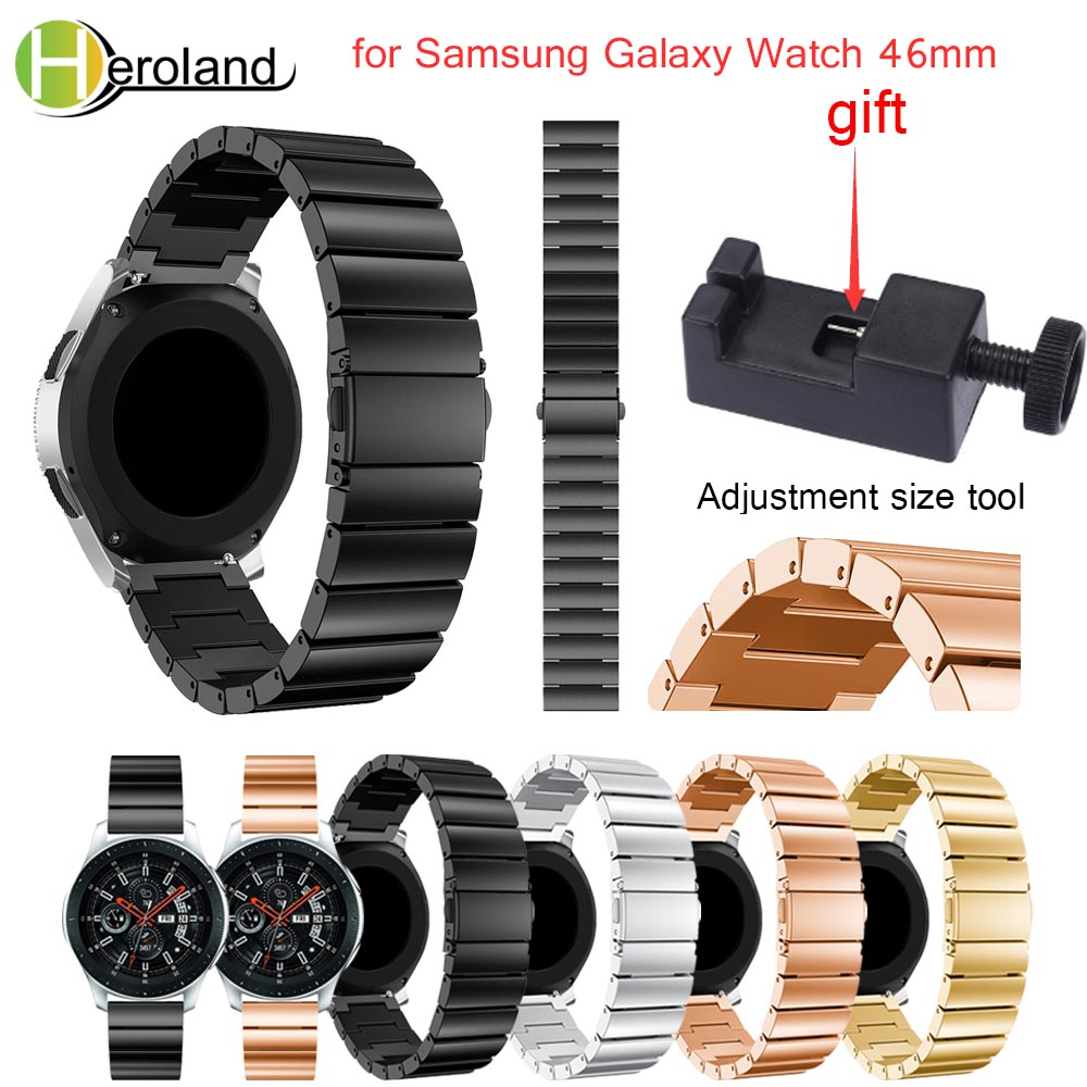 for Samsung Galaxy Watch 46mm/42mm Wristband Luxury Stainless steel smart watchband strap 2018 new metal Replacemet With tool цена