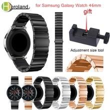 Купить с кэшбэком  for Samsung Galaxy Watch 46mm/42mm Wristband Luxury Stainless steel smart watchband strap 2018 new metal Replacemet With tool