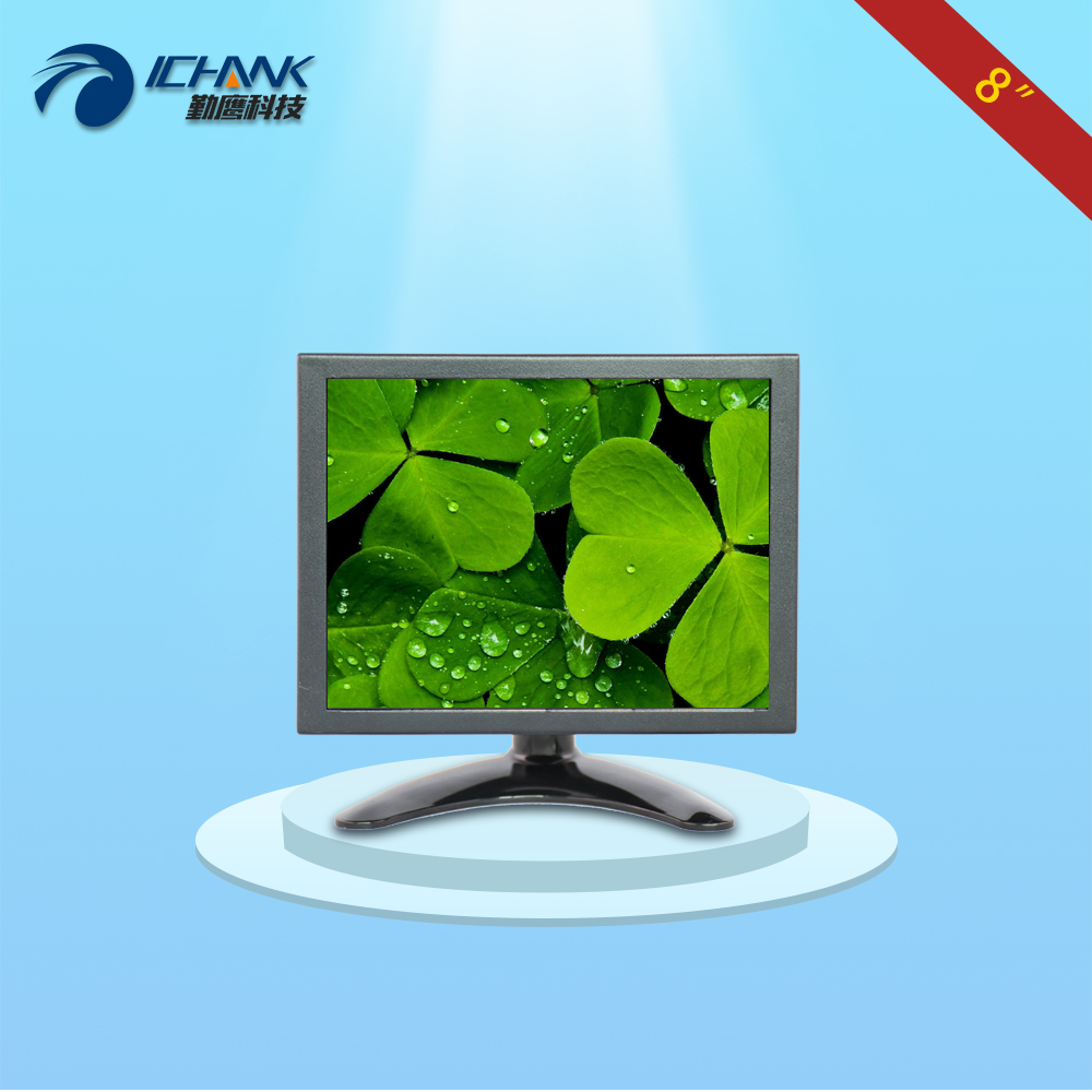 B080TN-2660/8 inch metal case 1024x768 4:3 HDMI Wall-hanging Anti-interference Industry Medical Small monitor LCD screen display