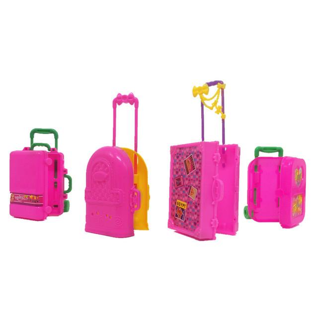 Fashion Doll Plastic 3D Travel Suitcase