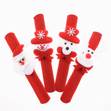 1pc Red Christmas Clap Circle Santa Claus Snowman Bear Elk For Kids Adult Xmas Accessories Toy Supply Decoration