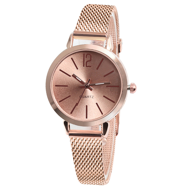 CMK New Ladies Rose Gold Silver watch Women Casual Stainless Steel Strap Luxury