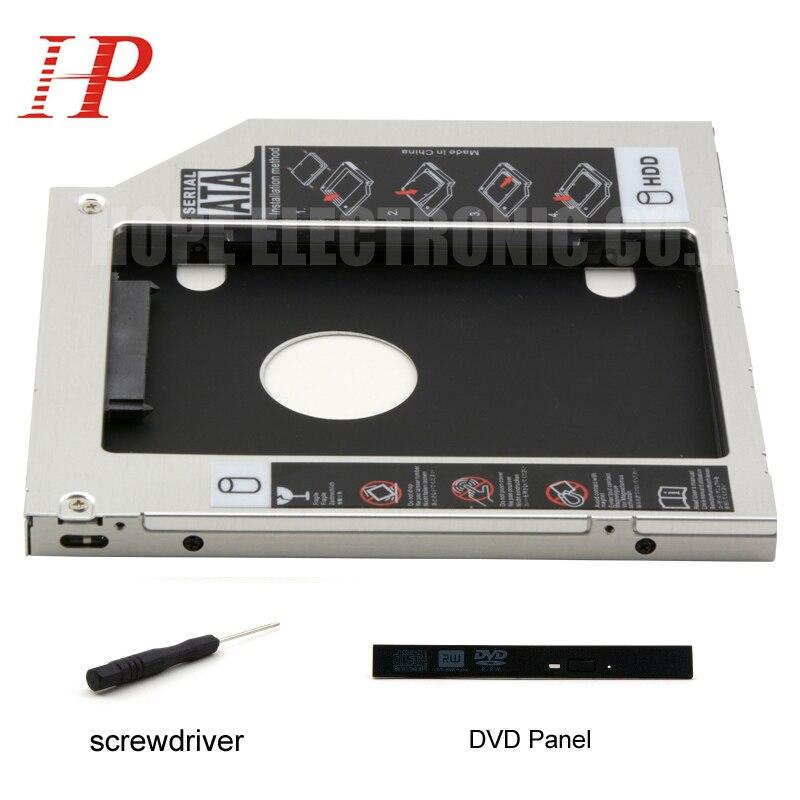 For ACER E5-471G E5-472G E1-572G 3.0 2nd HDD SSD Adapter Caddy DVD-ROM Optibay 9.5mm Thickness