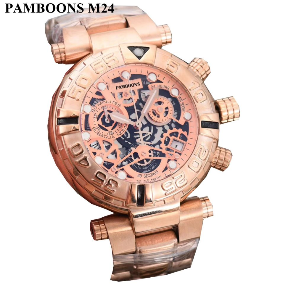 Automatic Mechanical Watches Full Stainless Steel Men Waterproof Skeleton Watch High Quality Mans Watch mce luxury fashion gold watch women high quality skeleton mechanical watch full stainless steel water resistant wrist watches