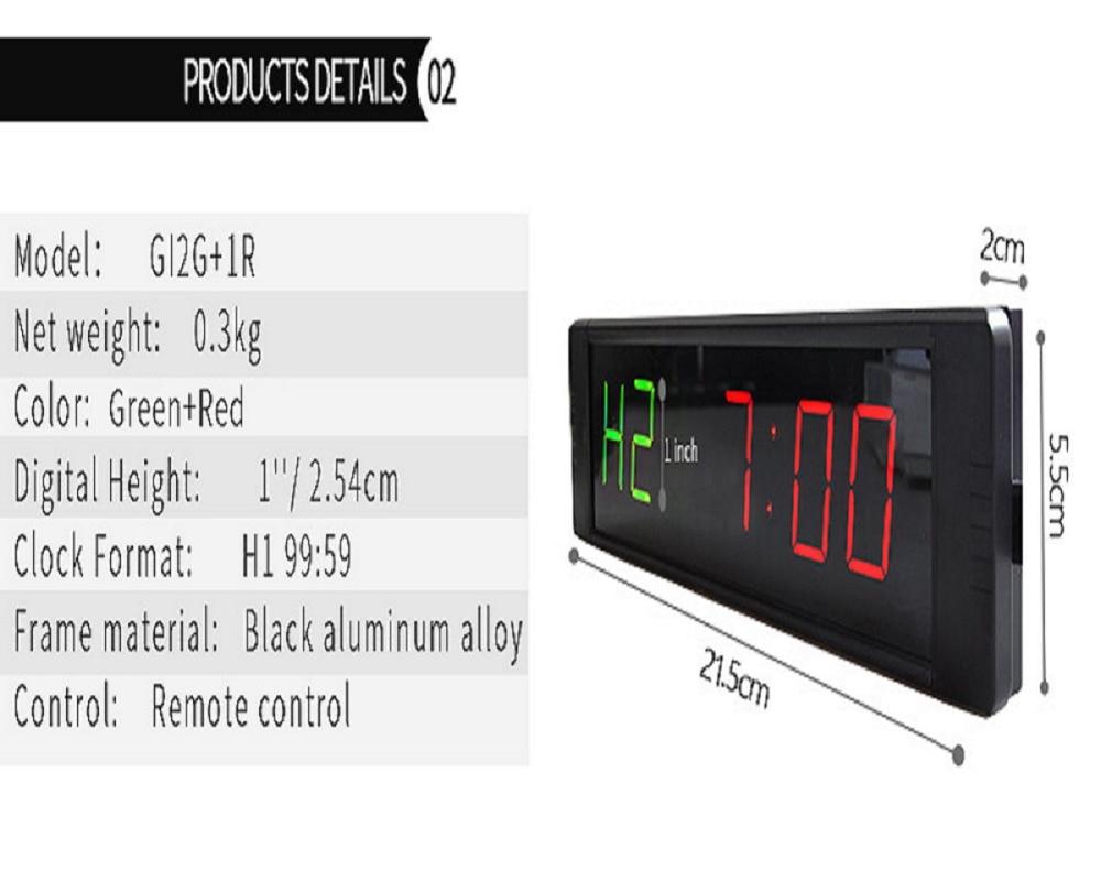 Gym wall clock timer ganxin1 programmable led wall clock gym timer interval timer led amipublicfo Choice Image
