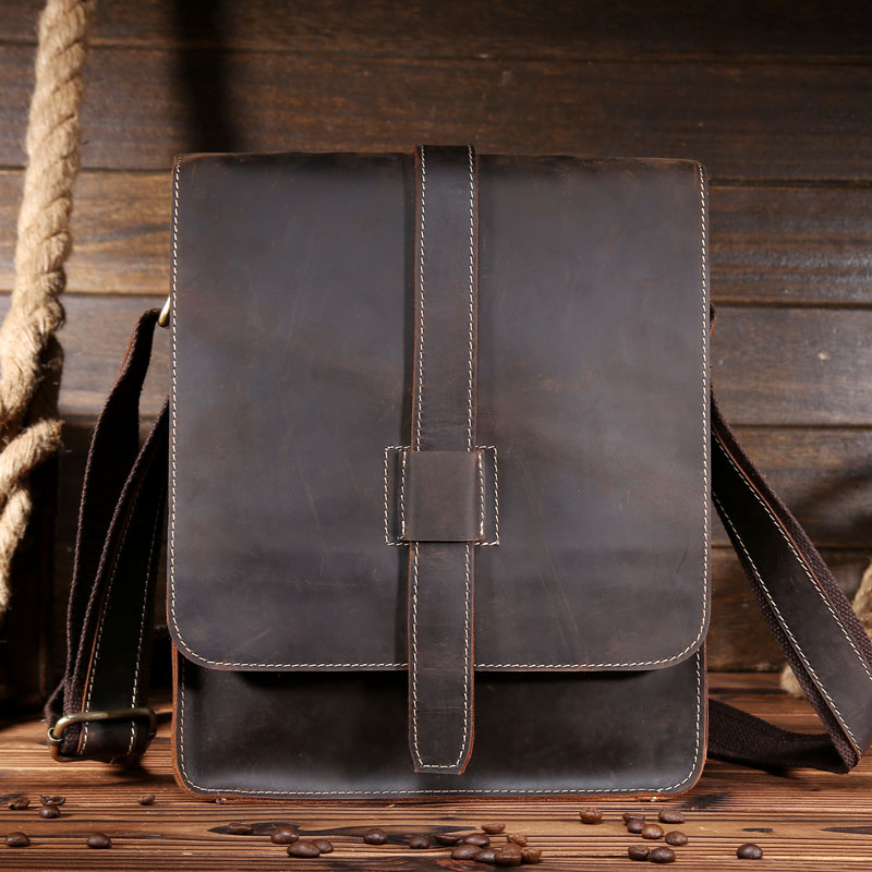 ФОТО 2017 Men Cowhide Genuine Leather Messenger Shoulder Bag Large Capacity Crossbody Bag Brand Vintage Handmade Travel Bag 8020