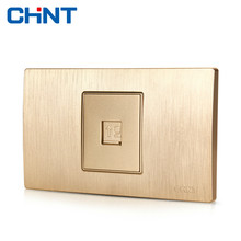 CHINT Electric Network Socket 118 Type Switch Drawing Gold Within Block Steel Frame NEW5D A Computer