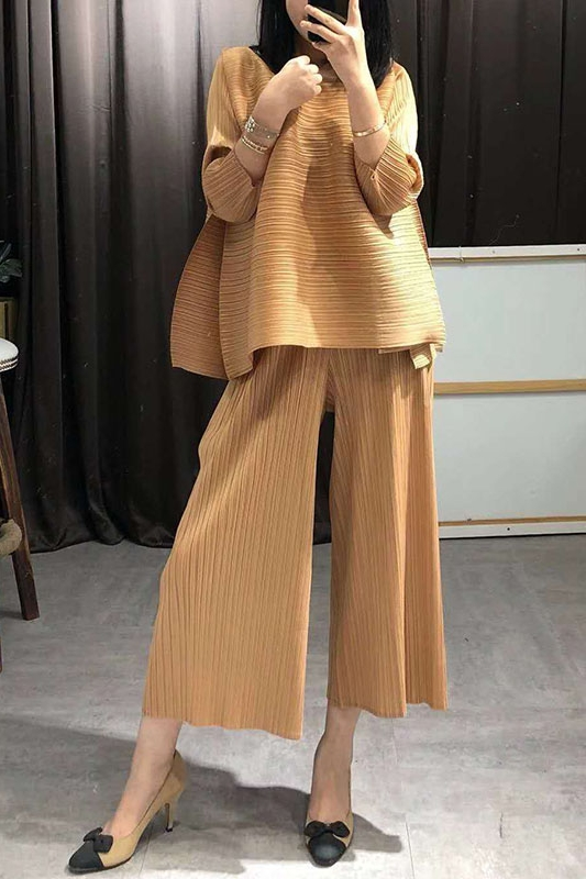 SuperAen 2019 Summer New Women's Sets Loose Pluz Size Tops Female Europe Fashion Casual Wild Pants Two Pieces Female