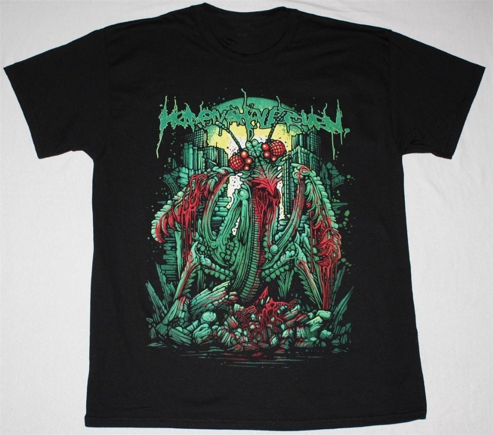 T Shirt Company Print Heaven Shall Burn Mantis Metalcore Caliban Death Metal New Black Men O-Neck Short-Sleeve Tee