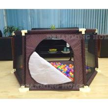 Baby Safety Fence Baby Playpen Fence Plastic Children Playpen Bed Barrier Safety Barrier Folding Fence 3