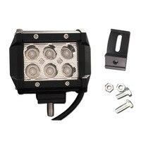 4 Inch 18W CREE LED Work Light Flood Spot Light Offroad Driving LED Light Bar 12V