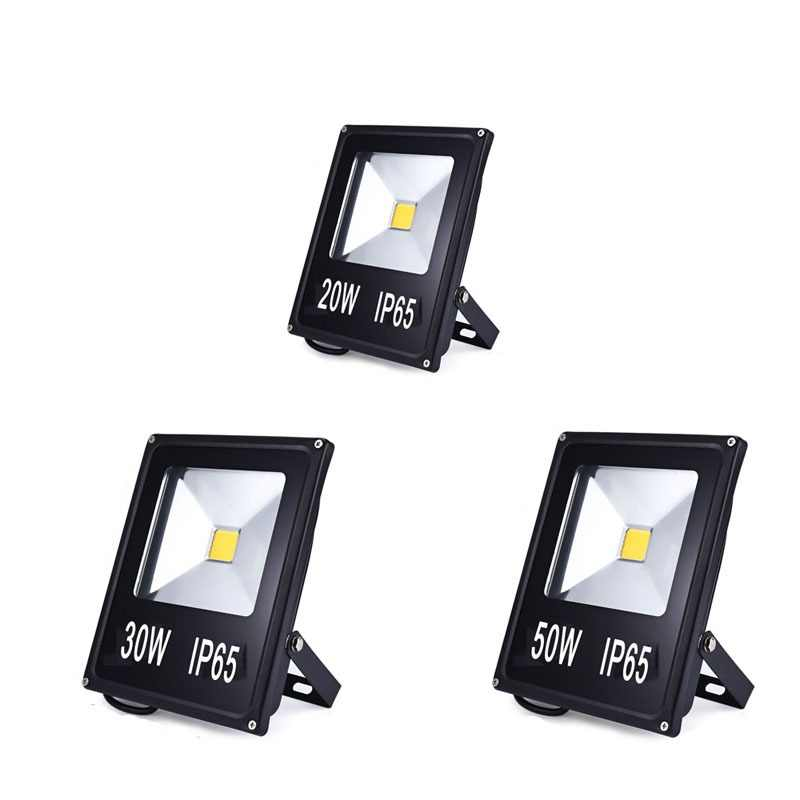 LED Flood Light 10W 20W 30W 50W Projector Reflector Wall Lamp Waterproof 220V Led COB Chip Floodlight Spotlight Outdoor Lighting