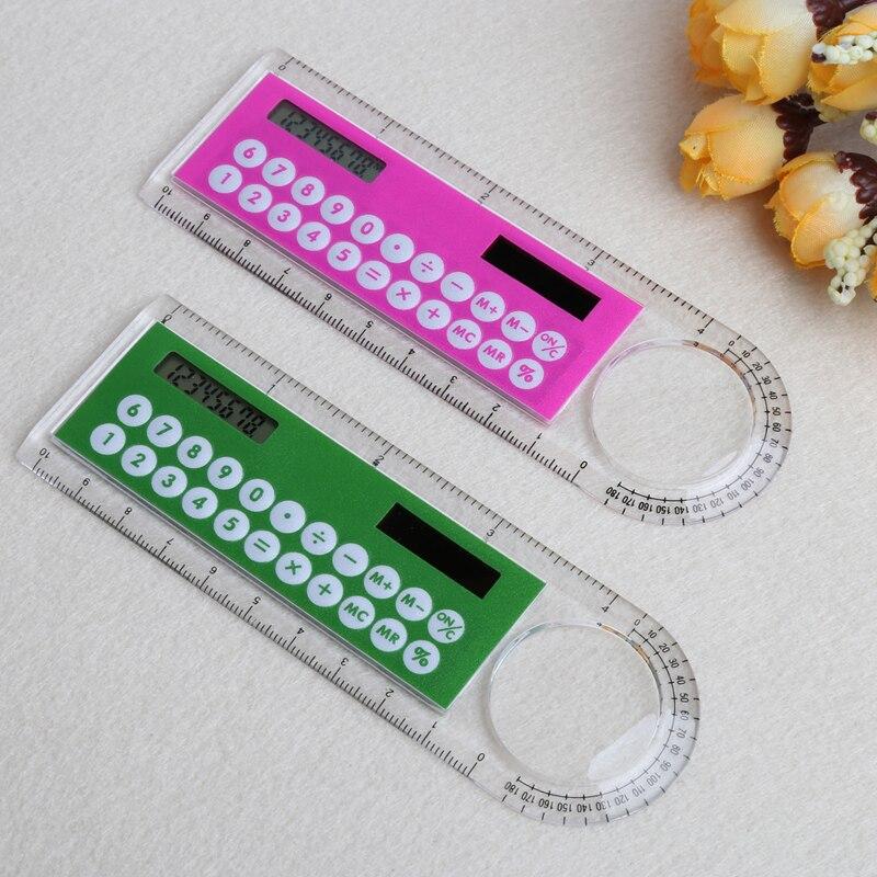 10 см линейка mini digital калькулятор 2 в 1 детский Канцелярские школа Офис Подарки Новый
