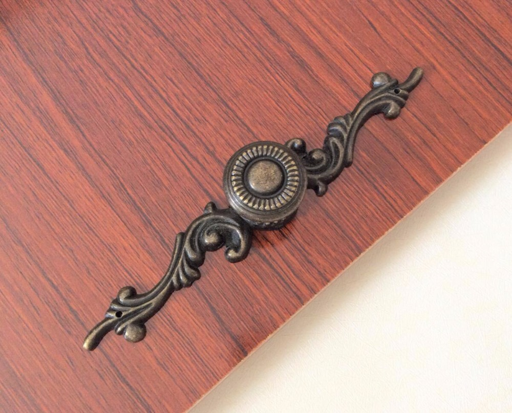 Rustic Dresser Pulls Drawer Knobs Backplate Antique Bronze