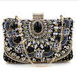 bolsa feminina Plastic Stone Beaded Pearl Rivets Chains Metal Black Evening Clutch Bag Upscale Styling Day Clutches On Sale