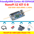 S5P4418 Quad Core Cortex-A9 NanoPi S2+8GB TF+USB Cable+Power+PSU-ONECOM=NanoPi S2  KIT-E-B(Runs u-boot,Android5.1,Debian8)