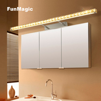 Modern Bathroom LED Crystal Wall Lamp Mirror Cabinet LED Mirror Front Light Bedroom Vanity Lighting Telescopic Arm Warm Light