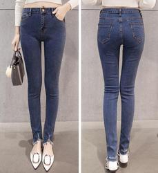Новый тонкий узкие штаны Для женщин Повседневная одежда Средства ухода за кожей стоп Ретро цвет: черный, синий карандаш Брюки для девочек