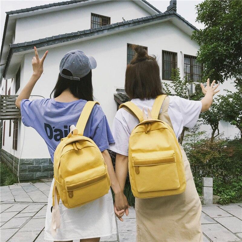 HTB1wrOqXNrvK1RjSszeq6yObFXaQ 2019 Women Canvas Backpacks Ladies Shoulder School Bag Backpack Rucksack for Girls Travel Fashion Bag Bolsas Mochilas Sac A Dos