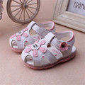 Summer Baby First Walkers Girls Led Light Shoes Soft Bottom Newborn Prewalker Infant Bebe Shoes