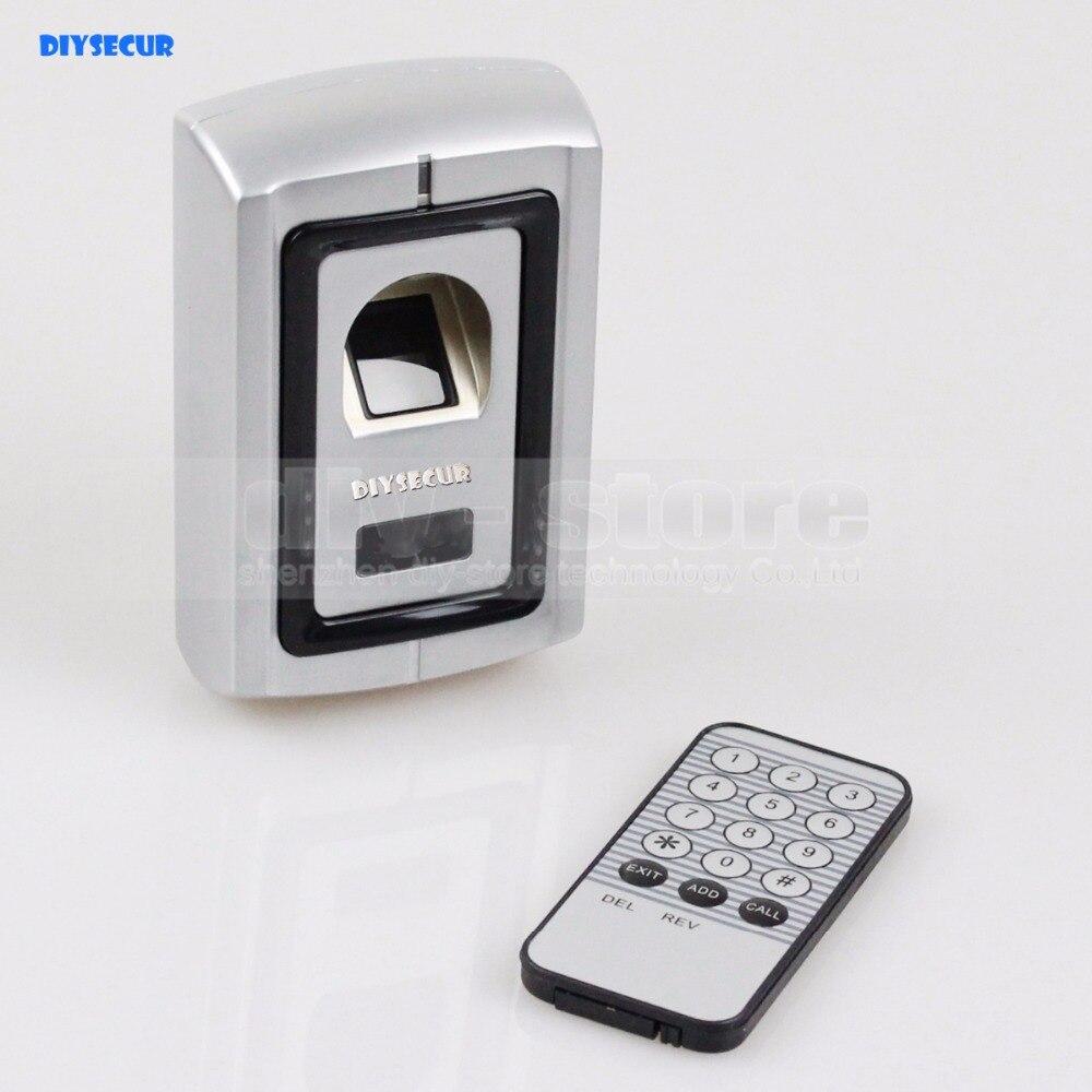 DIYSECUR Metal Case Fingerprint Door Lock Access Control Controller Kit + Remote Control biometric fingerprint access controller tcp ip fingerprint door access control reader