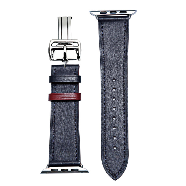 Genuine Leather Watchban for Apple Watch Band Series 4/3/2/1 38mm 42mm Qualit Leather for iWatch Sports Strap 40mm 44mm | Watchbands